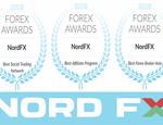 NordFX оформила хет-трик в ворота Forex Awards