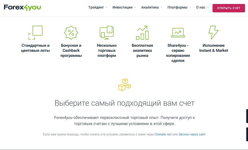 Forex4you - сайт