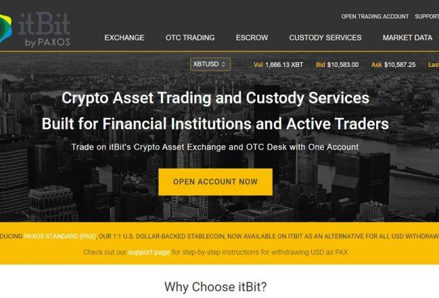 ItBit - сайт
