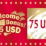РОЗЫГРЫШ WELCOME BONUS 75 USD!