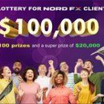 Супер лотерея: NordFX раздает трейдерам 100000 долларов США